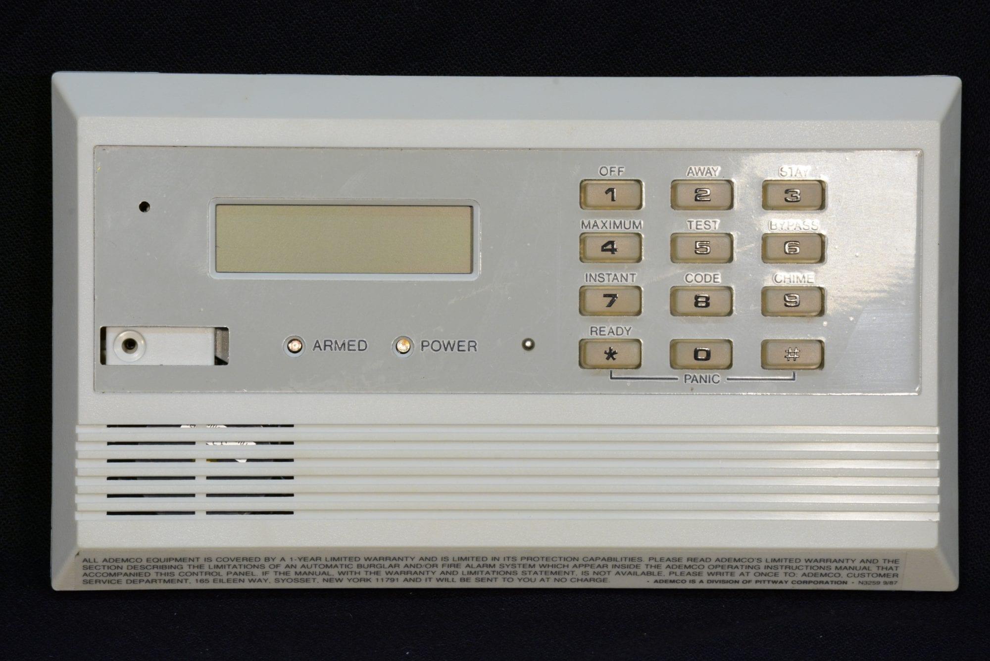 Ademco Control Keypad Communicator Wayne Alarm Systems Burglar