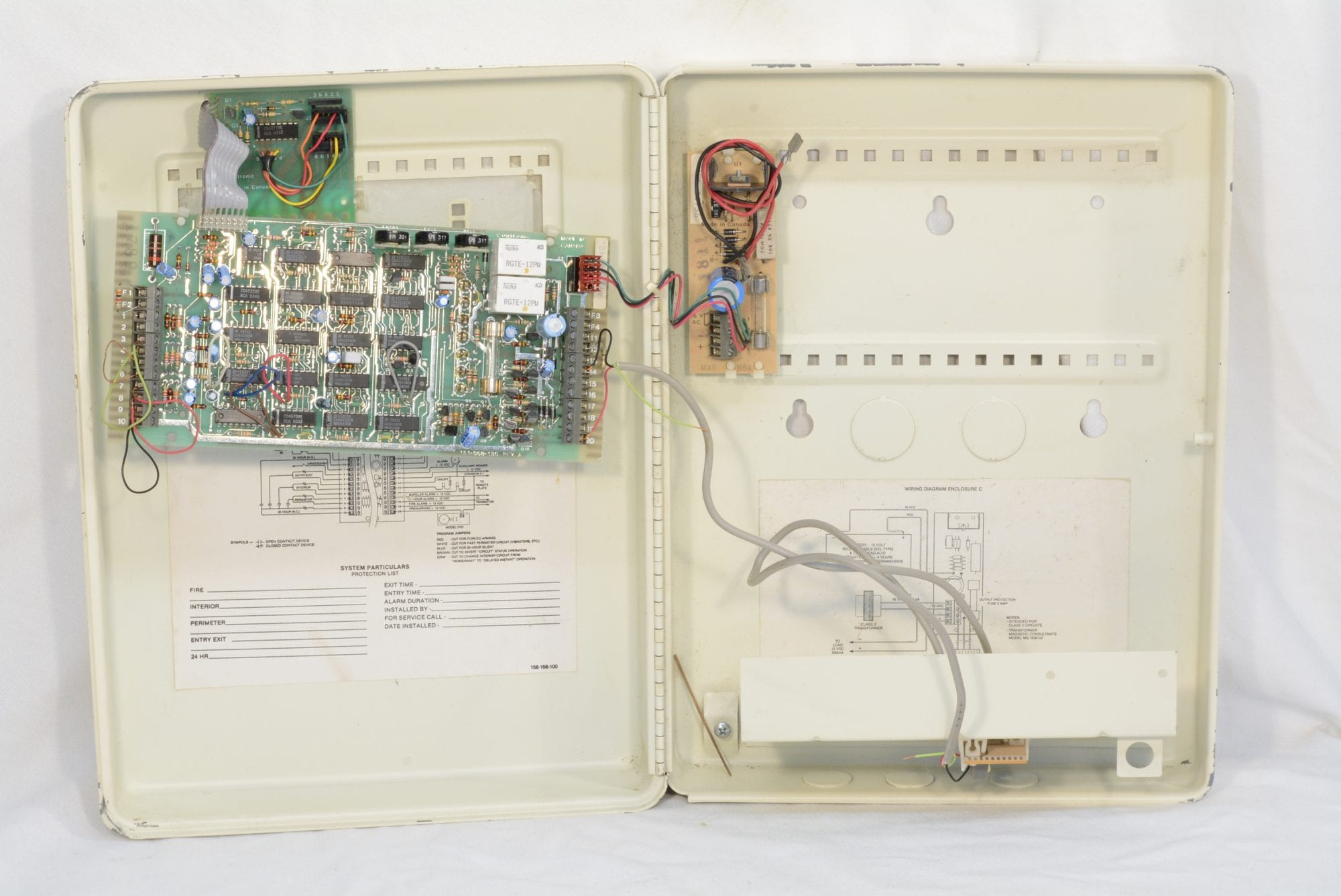 Alarm Transformer Wiring Diagram Combination Burglar And Fire Wayne Systems Gallery