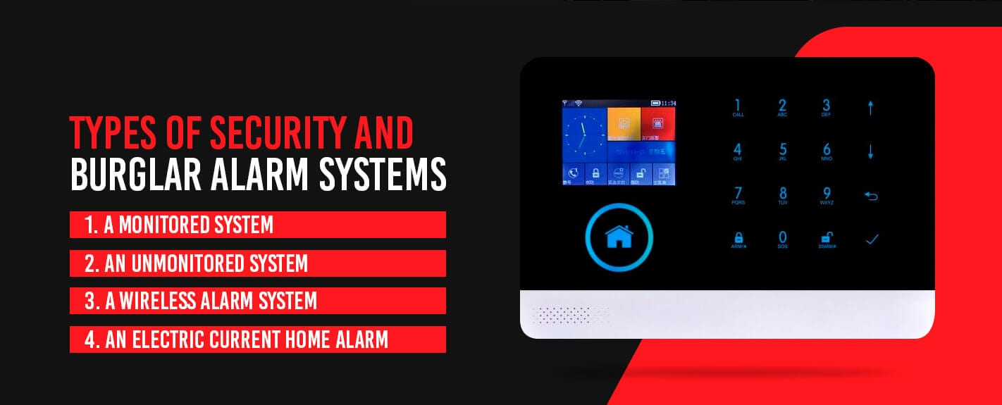 Types of Security and Burglar Alarm Systems