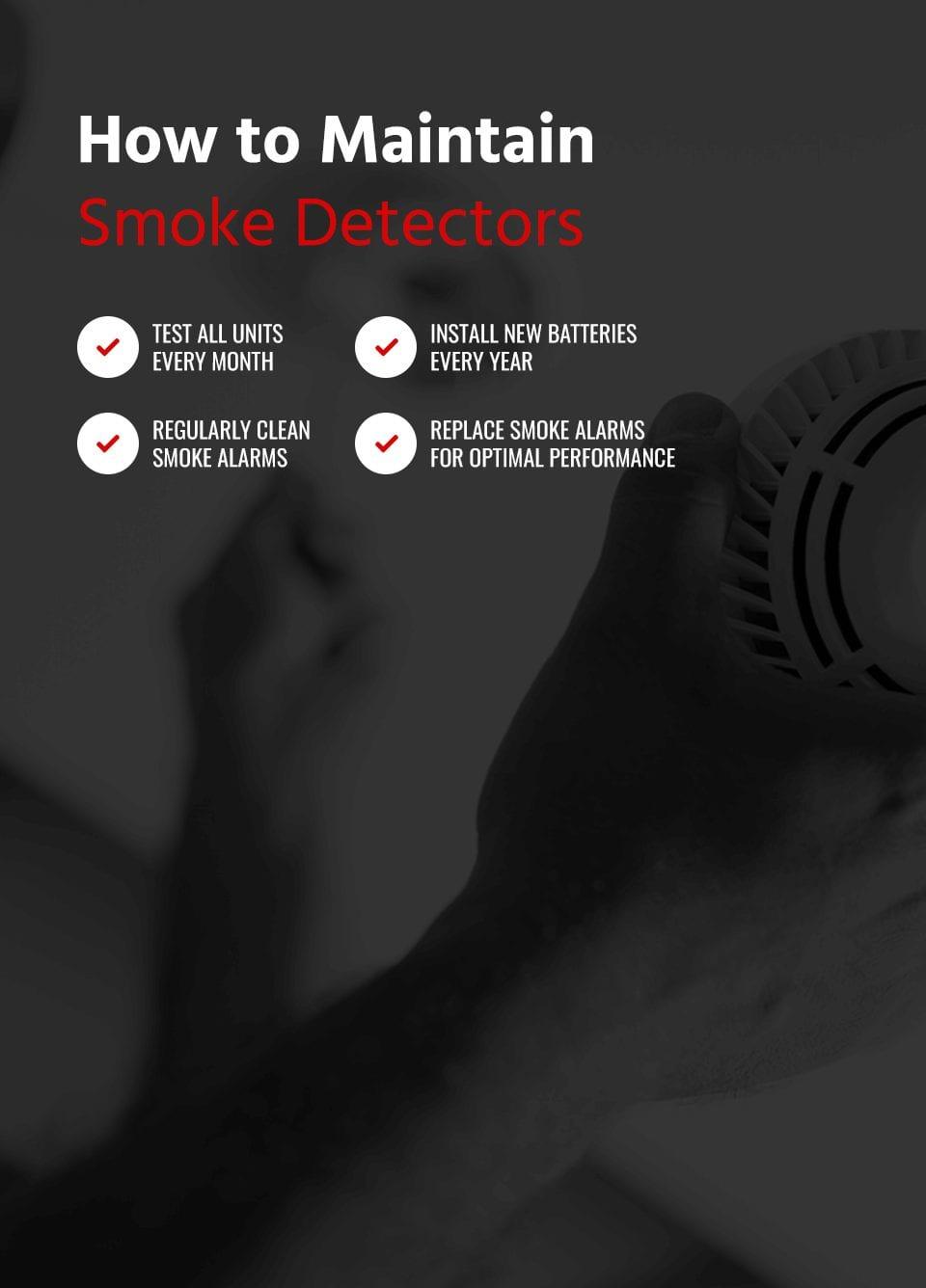 how to maintain smoke detectors