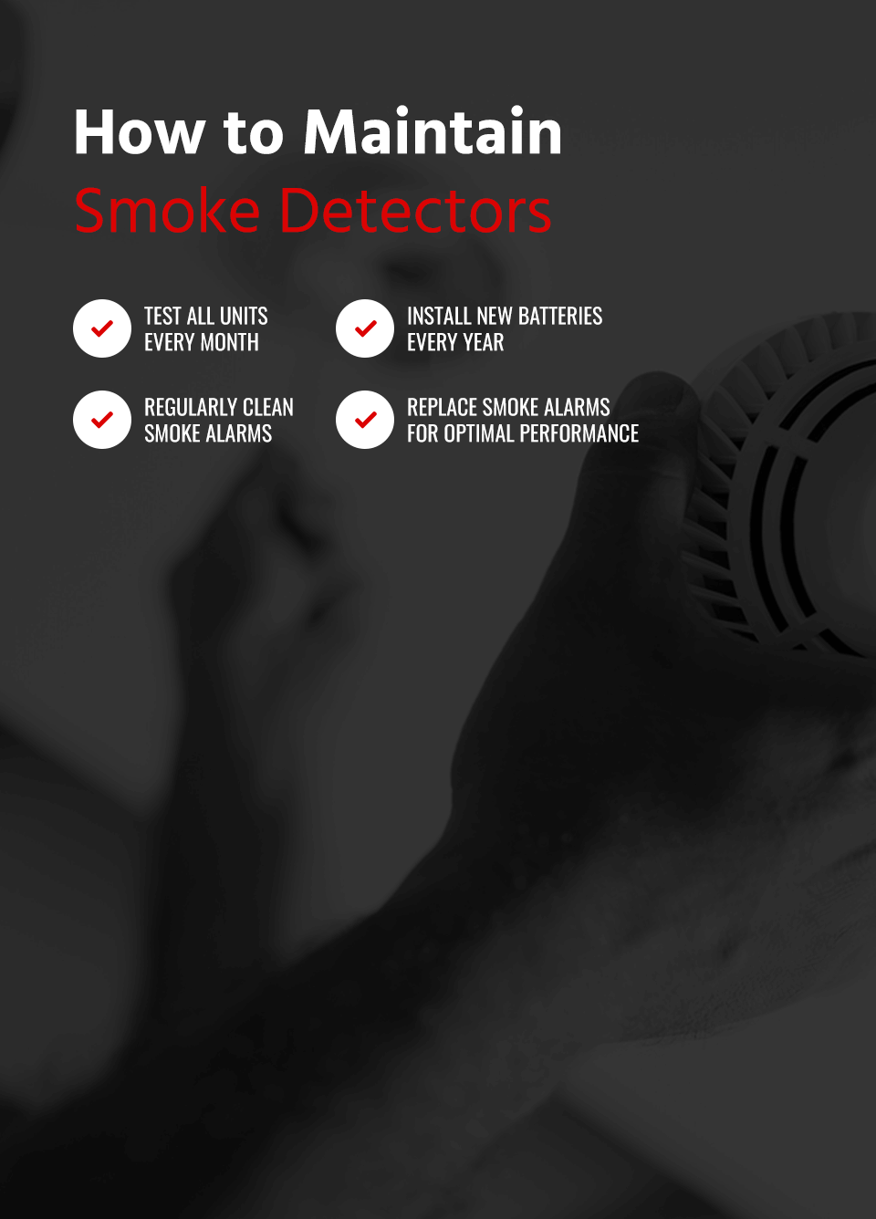 how to maintain smoke detectors
